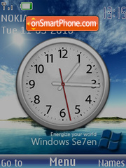 Windows 7 Clock theme screenshot