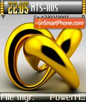 Golden Torus theme screenshot