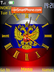 Russia Clock theme screenshot