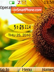 Sunflower clock theme screenshot