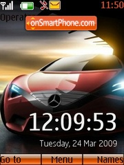 Mercedes Clock theme screenshot