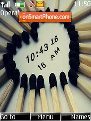 Matches heart clock theme screenshot
