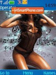 Musik girl theme screenshot