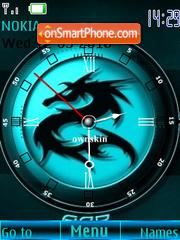 Dragon black clock theme screenshot