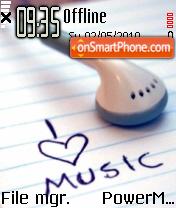 I Love Music 01 tema screenshot