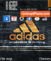 Adidas 43 theme screenshot