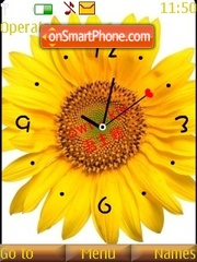 2 sunflower clock theme screenshot
