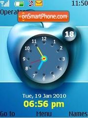 Blue apple clock theme screenshot