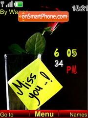 4i miss you clock theme screenshot