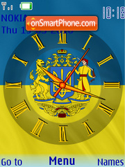 Ukraina SWF Clock theme screenshot