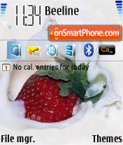 Far Strawberry theme screenshot