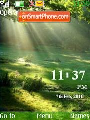 6 nature clock theme screenshot