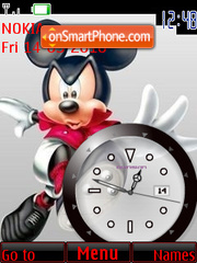 Mickey Mouse Clock theme screenshot