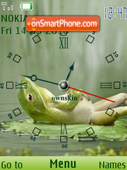 Good Frog Clock theme screenshot
