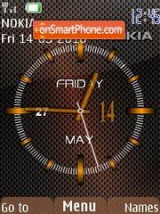 Brown Clock theme screenshot