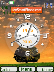Sunset Clock theme screenshot