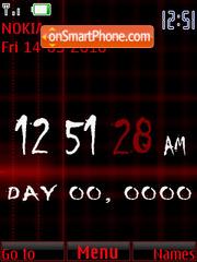 Red Clock theme screenshot
