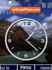 Mountains clock animated theme screenshot