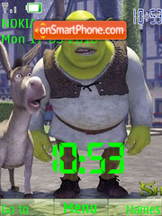 Shrek SWF theme screenshot