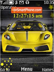 Capture d'écran Ferrari clock thème