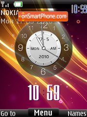 Clock Android theme screenshot