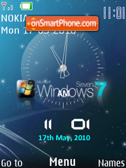 Reloj windows7 theme screenshot