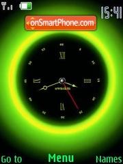 Swf green clock es el tema de pantalla