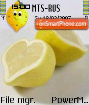 Скриншот темы Lemon Heart