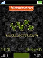 Olive Carbon Walkman es el tema de pantalla