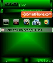 Green abstrakt theme screenshot