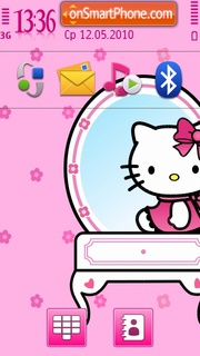 Pink Kitty 02 theme screenshot