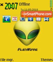 Alienware 09 theme screenshot