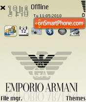 Armani 06 tema screenshot
