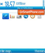 Blueness theme screenshot