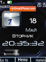 Clock date & battery theme screenshot