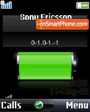 Battery clock w350i es el tema de pantalla