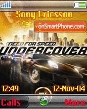 Need for Speed Undercover 01 es el tema de pantalla