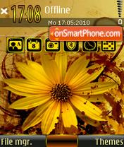 Yellow Flower 02 es el tema de pantalla