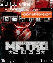 Metro 2033 v1.2 theme screenshot