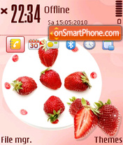 Strawberry 05 tema screenshot