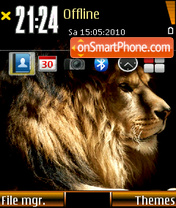 King Lion theme screenshot