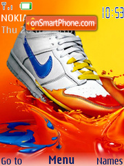 Nike color theme screenshot