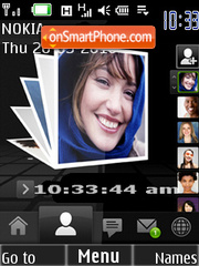 Reloj albun de fotos theme screenshot