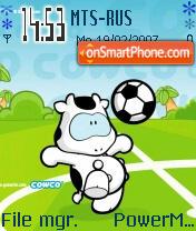 Cowco Calcio es el tema de pantalla