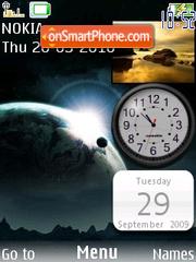 Reloj fondo de espacio es el tema de pantalla