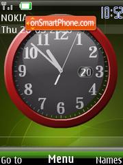 Скриншот темы Reloj Green