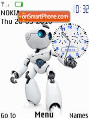 Robot Clock theme screenshot
