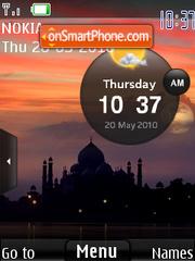 Reloj Taj mahal theme screenshot