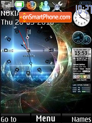 Clock vista theme screenshot