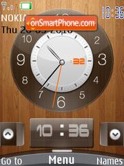 Reloj Wooden es el tema de pantalla